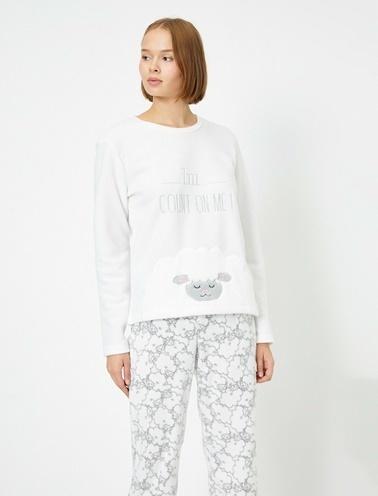 Koton Pijama Takım Ekru